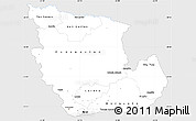 Silver Style Simple Map of Concepcion, single color outside