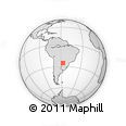 Outline Map of Caacupe