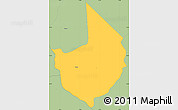Savanna Style Simple Map of Caacupe