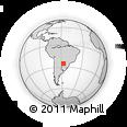 Outline Map of Eusebio Ayala