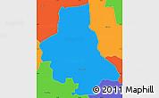 Political Simple Map of Eusebio Ayala