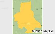 Savanna Style Simple Map of Eusebio Ayala