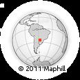 Outline Map of Itacurubi De La Cordiller