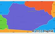 Political Simple Map of Itacurubi de la Cordiller