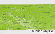 Physical Panoramic Map of Cordillera