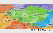 Political Shades Panoramic Map of Cordillera