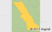 Savanna Style Simple Map of San Bernardino