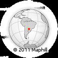 Outline Map of Santa Elena