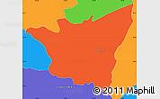 Political Simple Map of Santa Elena