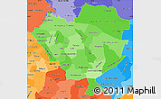 Political Shades Simple Map of Cordillera