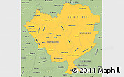 Savanna Style Simple Map of Cordillera