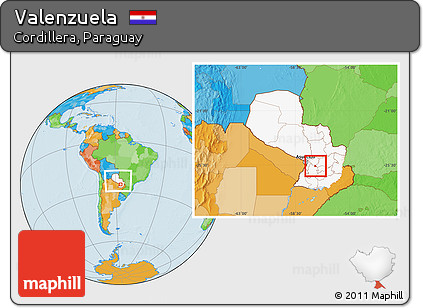 Free Political Location Map of Valenzuela highlighted country