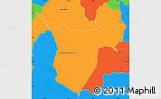 Political Simple Map of Borja