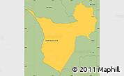 Savanna Style Simple Map of Borja