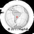 Outline Map of Coronel Martínez East