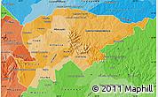 Political Shades Map of Guaira