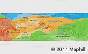 Political Shades Panoramic Map of Guaira