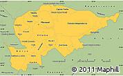 Savanna Style Simple Map of Guaira