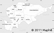 Silver Style Simple Map of Guaira, single color outside