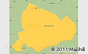 Savanna Style Simple Map of Villarica