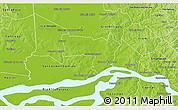 Physical 3D Map of Coronel Bogado