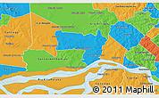 Political 3D Map of Coronel Bogado