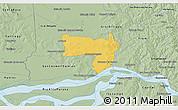Savanna Style 3D Map of Coronel Bogado