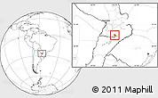 Blank Location Map of Coronel Bogado