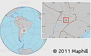Gray Location Map of Coronel Bogado