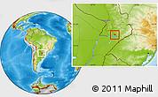 Physical Location Map of Coronel Bogado