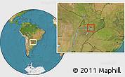 Satellite Location Map of Coronel Bogado