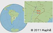 Savanna Style Location Map of Coronel Bogado