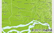 Physical Map of Coronel Bogado