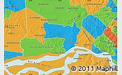 Political Map of Coronel Bogado