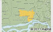 Savanna Style Map of Coronel Bogado