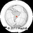 Outline Map of Coronel Bogado