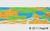 Political Panoramic Map of Coronel Bogado