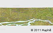 Satellite Panoramic Map of Coronel Bogado