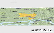 Savanna Style Panoramic Map of Coronel Bogado