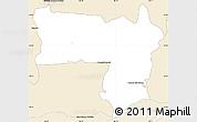Classic Style Simple Map of Coronel Bogado