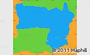 Political Simple Map of Coronel Bogado