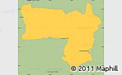 Savanna Style Simple Map of Coronel Bogado