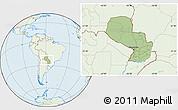 Savanna Style Location Map of Paraguay, lighten