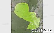 Physical Map of Paraguay, darken, semi-desaturated