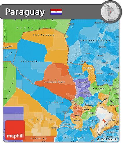 Political Map of Paraguay