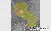 Satellite Map of Paraguay, desaturated