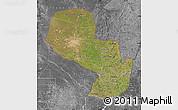 Satellite Map of Paraguay, desaturated