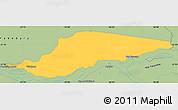 Savanna Style Simple Map of Ayolas