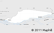 Silver Style Simple Map of Ayolas