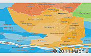 Political Shades Panoramic Map of Misiones